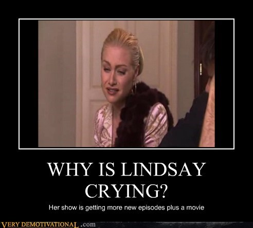 WHY IS LINDSAY CRYING? Her show is getting more new episodes plus a movie