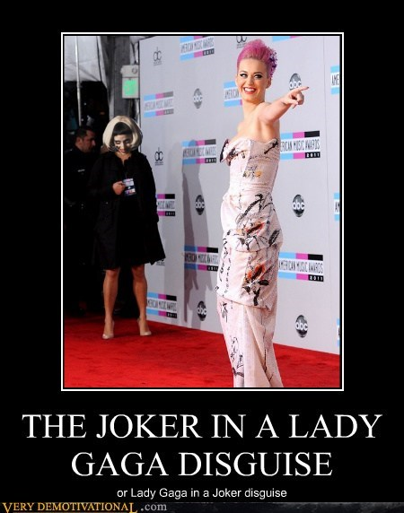 THE JOKER IN A LADY GAGA DISGUISE or Lady Gaga in a Joker disguise