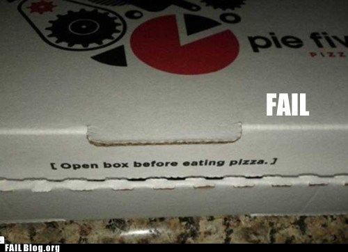 common sense pizza Professional At Work warning
