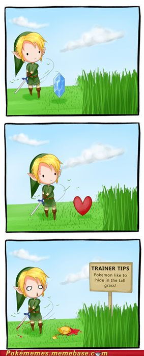 best of week,comic,crossover,link,nintendo,pikachu,tall grass