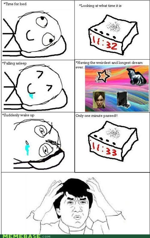 amazing,clock,dreams,Rage Comics,sleep,time,what
