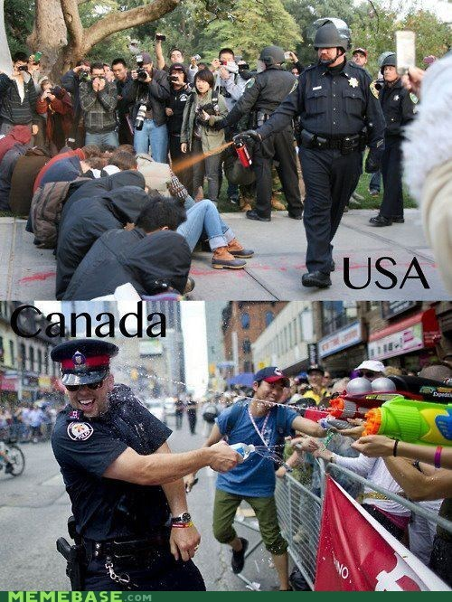 america,best of week,Canada,cops,Pepper Spray Cop,the difference
