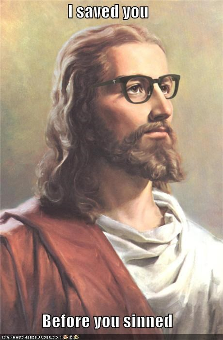 aww,hipster,LOL Jesus,religion,saved,sin