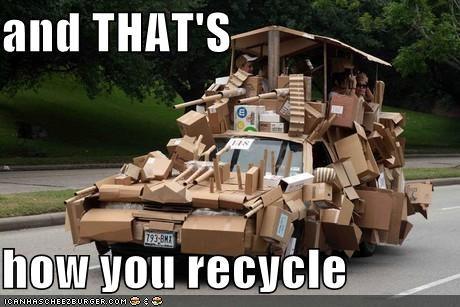 awesome cardboard car earth friendly eco friendly ecological recycle recycling - 5480988672