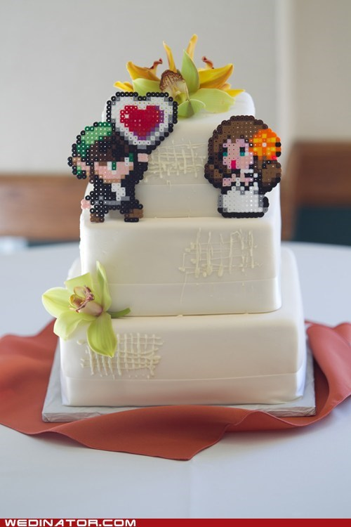 cake topper funny wedding photos geek Hall of Fame zelda
