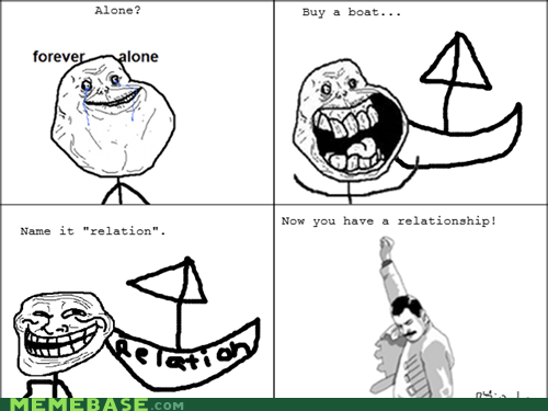 boat,forever alone,Rage Comics,relationship