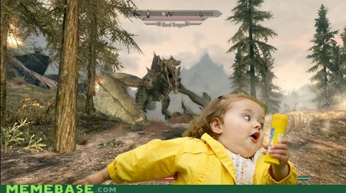 bubbles dragon fun times to be had with fun times to be had with bubbles Memes run Skyrim video games - 5482281984