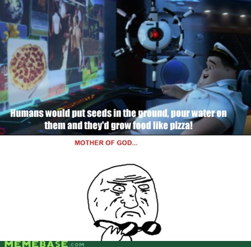 ground,movies,pixar,pizza,Rage Comics,wall.e