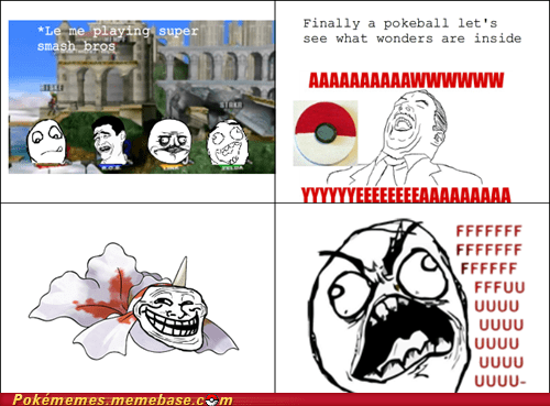 fuuuu,Goldeen,pokeball,rage comic,Rage Comics,super smash bros
