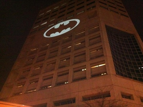 Batman Signal Crime Stoppers Justice Center PDX Street Art Stumptown