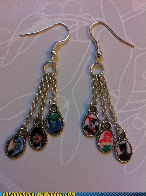 catwoman Earring Harley Quinn joker penguin poison ivy Random Heroics rogues gallery two face - 5483083520