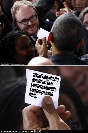 barack obama fortune cookie note political pictures - 5483540480