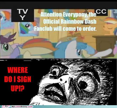 comic fanclub official rainbow dash TV - 5483944704