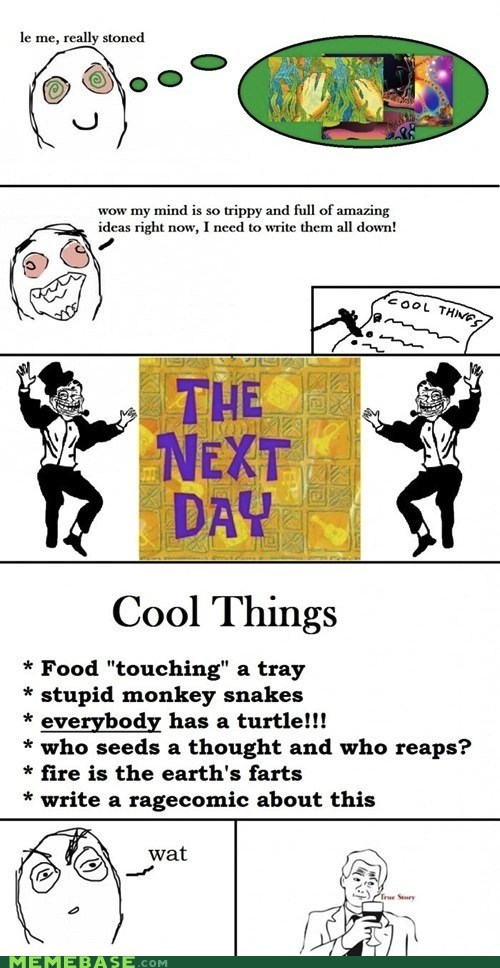 cool things,high,Rage Comics,stoned,true story