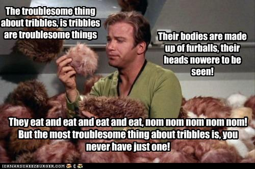 Shatnerday,Star Trek,tigger,tribbles,trouble,William Shatner