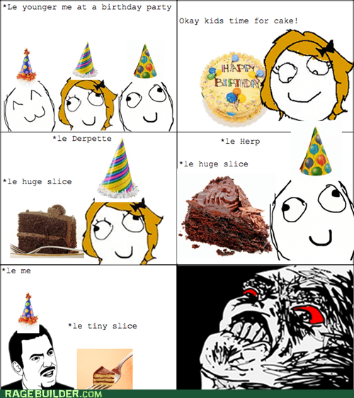 birthday cake Rage Comics size slice - 5484504576