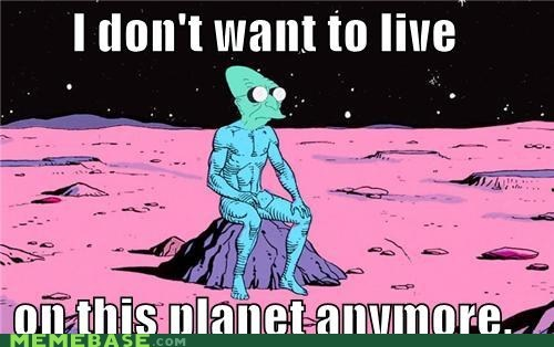 comics futurama i dont want to live on this planet anymore Mars professor plutonium Super-Lols watchmen - 5484866304