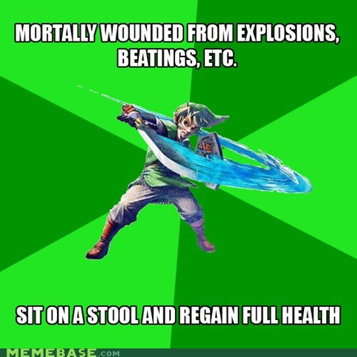 Blood health hearts life link Memes video games zelda