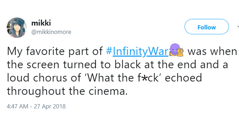 Avengers reactions, infinity war reactions, avengers infinity war, thanos, spider-man, iron man, thor, loki, vision, sick, crying, sad, depressed, therapy, captain america, bucky, black panther.