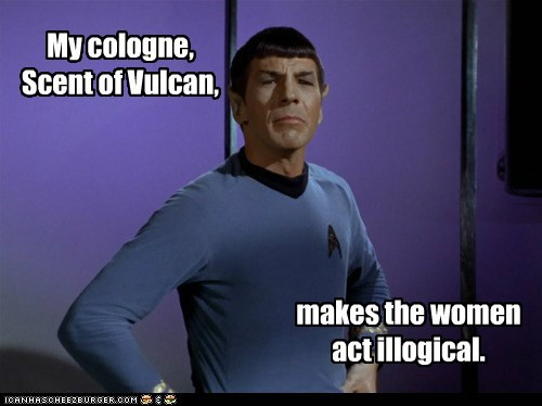 cologne illogical Leonard Nimoy Spock Star Trek Vulcan women