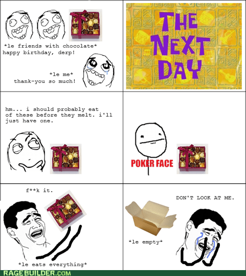 chocolate guilt noms Rage Comics - 5486483200