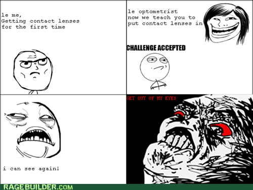 contacts,lenses,Rage Comics,vision