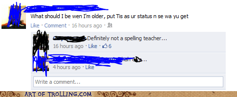 career,facebook,spelling,teacher