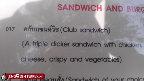 sandwiches,three times as much,triple decker,triple dicker