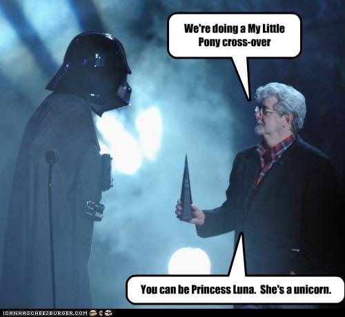 cross over darth vader my little pony nightmare moon princess luna star wars unicorn