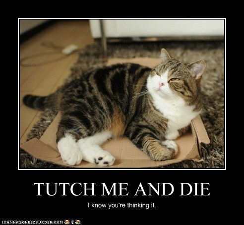 TUTCH ME AND DIE I know you're thinking it.