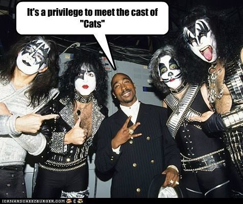 Cats KISS makeup musicals musicians rappers tupac shakur - 5488974592