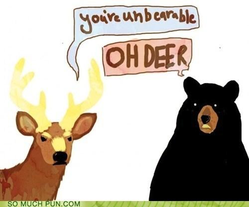 bear dear deer Hall of Fame homophone homophones insult insults literalism reaction unbearable - 5489109248