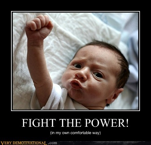 baby fight the power lying down nap Pure Awesome - 5489622016