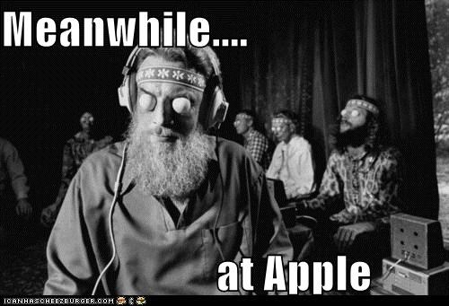 apple black and white historic lols hypnotic hypnotize Meanwhile meanwhile at apple wtf - 5489720320