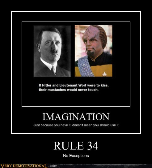 hilarious hitler moustache Rule 34 Star Trek warf - 5490454528