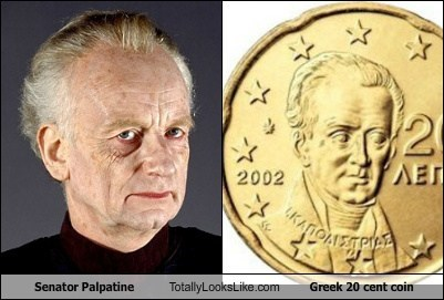 coin currency funny greek Hall of Fame Senator Palpatine star wars TLL - 5490607104
