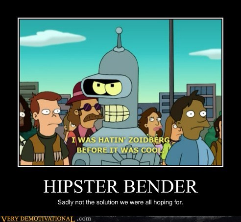bender,futurama,hilarious,hipster,solution