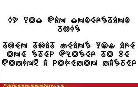 best of week letters Memes pokemon master read it the test unown - 5491133696