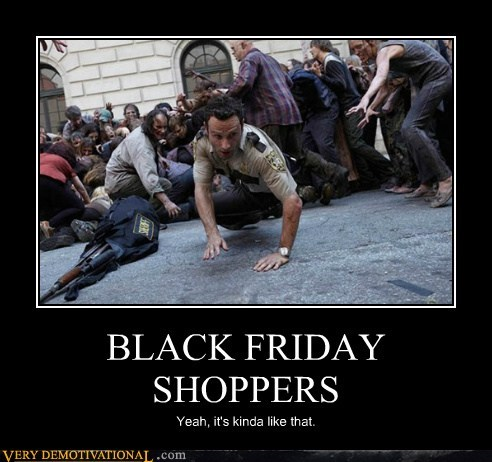 BLACK FRIDAY SHOPPERS Yeah, it's kinda like that.