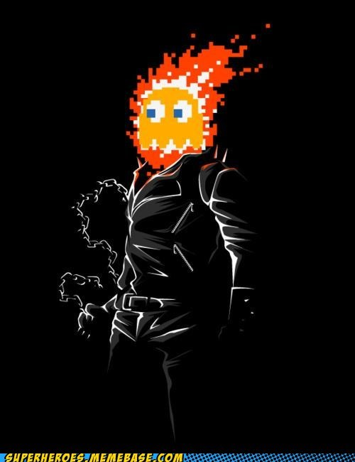 awesome Awesome Art ghost rider pac man - 5491673088