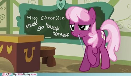 buck yourself cheerilee fillies not polite ponies school school daze - 5491857920