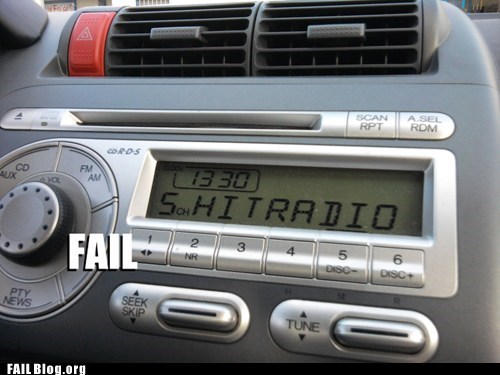 bad language,cars,preset,radio,s word