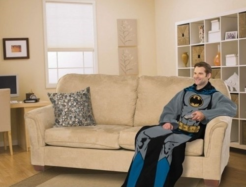 batman lazy merch Snuggies Spider-Man superheroes wonder woman - 5491948800