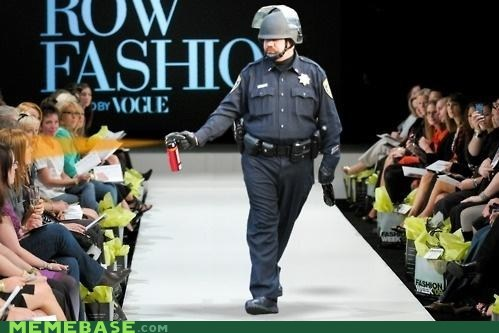 fabulous,fashion,Pepper Spray Cop,police,vogue