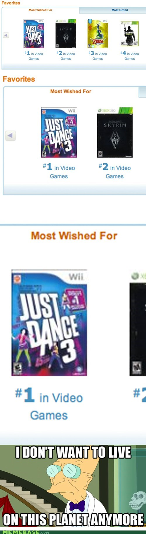 dancing,fus ro dah,games,i dont want to live on this planet anymore,seller,video games