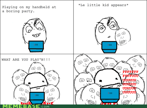 3DS,kids,Party,Rage Comics