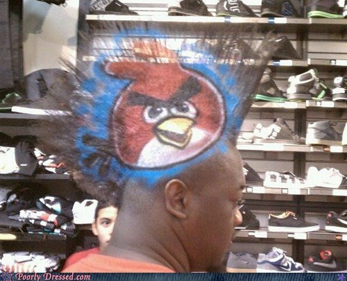 angry birds awesome hair hair win Hall of Fame mohawk - 5492153600