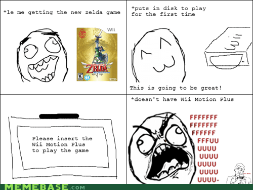 FAIL Rage Comics wii motionplus zelda - 5492169984