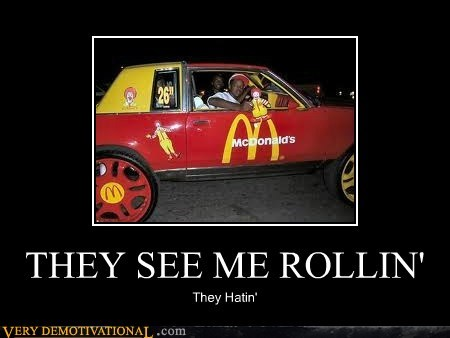 car hating idiots McDonald's rolling wtf