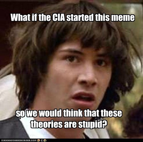 What if the CIA started this meme so we would think that these theories are stupid?